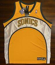 Rare Vintage Adidas NBA Seattle Supersonics Blank Basketball Jersey