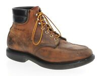 Vintage RED WING Boots 9.5 E Mens Distressed Leather Moc Toe Crepe Work Boots