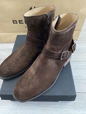 Belstaff Trialmaster Mens Boots Suede Dark Brown Size 44 Or 10UK