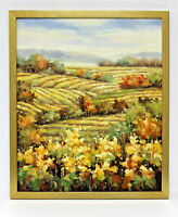 Wine Vineyard Landscape 20 x 24 Art Oil Painting on Canvas w/Custom Frame