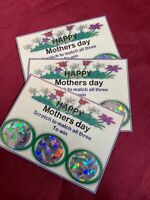 MOTHERS DAY SCRATCH CARD X2 SET FUN CHEAP GIFT ENVELOPE WIN LOSE Day off, iron