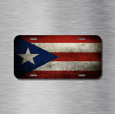 Puerto Rico Vehicle License Plate, Front Auto Tag NEW San Juan Ponce Flag Placa