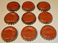 Vintage Lot (9) Sun-Rise Orange Cork Lined Soda Pop Bottle Caps Dubuque, Iowa