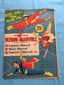 THE 3 FAMOUS FLYING MARVELS: CAPTAIN MARVEL, MARY MARVEL, CAPTAIN MARVEL, JR.