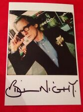 BILL NIGHY SIGNED 6X4 PROMO CARD MOVIE AUTOGRAPH LOVE ACTUALLY 100% GENUINE