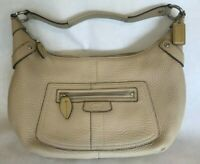 COACH Tan/Cream Color Leather Hand Bag Purse - No J0882-13159