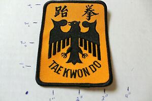 NEW BLACK EAGLE TAEKWONDO TAE KWON DO STITCHED UNIFORM PATCH Martial Arts MMA