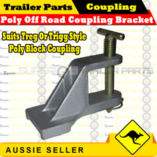 Poly Off-Road Coupling Bracket Car Zinc Trailer Hitch Caravan Suits Treg / Trigg