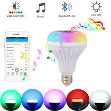 LED Wireless Bluetooth Bulb Light Speaker 12W RGB Smart Music Play Lamp QP