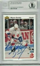 Wayne Gretzky Auto Card 1991-92 Upper Deck  Beckett Authentic Canada Cup Jersey