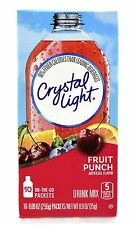 6 10-Packet Boxes Crystal Light Fruit Punch On The Go Drink Mix