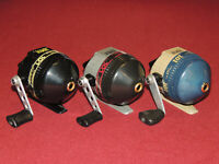 Lot of 3 Very Nice Zebco #101 Spincast Reels, All Work Great, Right Hand