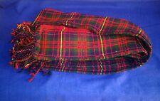 Scottish | Cameron Tartan pleated Piper's Long Plaid | 3 1/2 y | Geoffrey