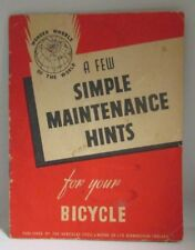 A Few Simple Maintenance Hint for Your Bicycle 1954 British Hercules Cycle Co.