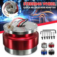 Universal Aluminum Car Steering Wheel Quick Release Hub Adapter Boss Snap