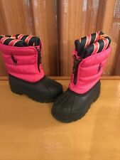 Ralph Lauren Polo Girls Pink Waterproof Snow Duck Boots Size 6 Toddler