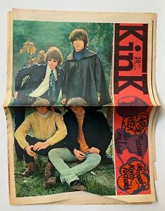 KINK 1967 Dutch Music Paper THE BYRDS Jimi Hendrix KEITH RICHARDS POSTER stones