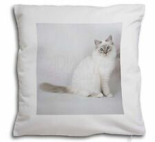 Beautiful Birman Cat Soft Velvet Feel Cushion Cover With Inner Pillow, AC-47-CPW