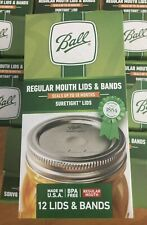 BALL 30000 Regular Mouth Jar Lids and Bands (Pack of 12)