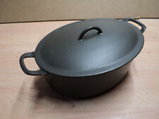 Vintage FE Belgium Descoware Enamelled Cast Iron Casserole Pot with lid. USED