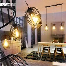 Retro Hänge Lampen Pendel Leuchte schwarz Ess Wohn Schlaf Raum Beleuchtung rund