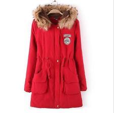 Women's Warm Long Coat Fur Collar Hooded Thick Jacket Slim Winter Parka Outwear