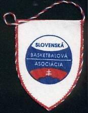 SLOVAKIA BASKETBALL FEDERATION SMALL PENNANT OLD LOGO #1 7x9cm