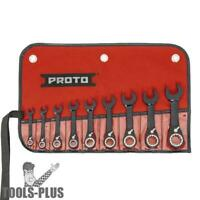 Proto JSCVS-9S 9 pc Combo Reversible Stubby Ratcheting Wrench Set New
