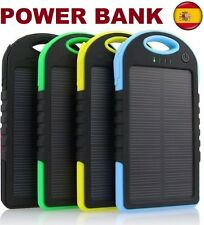 BATERIA EXTERNA CARGADOR PORTATIL SOLAR 5000 MAH POWER BANK PARA MOVIL TABLET
