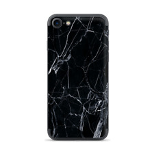 Apple iPhone 7 / 8 Skins Decal Wrap Black Marble Granite White