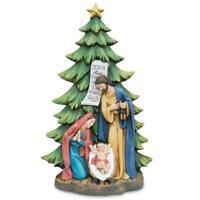 Mary, Joseph and Jesus Nativity Tabletop Christmas Tree Figurine 13 Inches