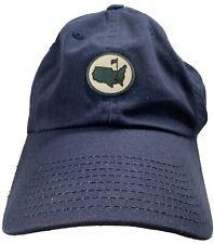New listing Masters Augusta National Golf Club Berckmans Place Navy Blue 1934 Hat Adju