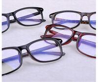 Clear Lens Glasses PC TV Computer Reading Optical Plain UV400 Nerd Geek Eyewear
