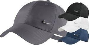 Nike Cap Heritage Grey Swoosh Metal Logo Unisex Men Summer Hat Black White Navy