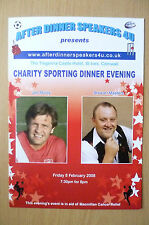 2008 CHARITY SPORTING EVENING- DINNER MENU @ TREGENNA CASTLE HOTEL, CORNWALL