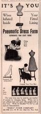 1909 D AD PNEU FORM DRESS MAKER FORM PHOTOS SEW FASHION
