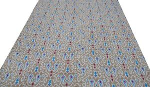 Indian Paisley Print Cotton Queen Size Kantha Quilt Ethnic Bedspread Blanket
