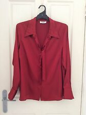 Table Eight Robert D'Angelo Red Satin Blouse Size 20