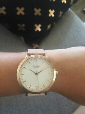 Kohë Rose Genuine Gold With Peach Leather Women's Watch Japanese Quartz 316L