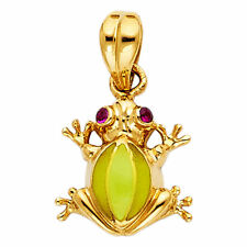 14k Solid Yellow Gold Frog Charm Pendant 1.9 grams