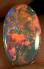Black Opal Australian natural solid 0.75 ct very bright stunning rich colour gem