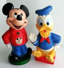 Walt Disney Mickey Mouse Club & Donald Duck Bank Pay Pal Plastic Vintage 1970's