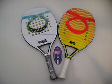 LOTTO COPPIA RACCHETTE BEACH TENNIS RACKET TOM CARUSO ROSTER E BURN IDEA REGALO