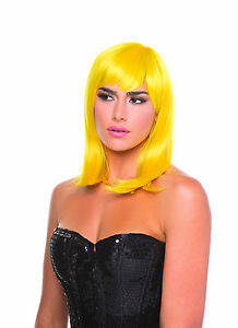 sexy BE WICKED short SHOULDER length DOLL flip BANGS costume WIG hair COSPLAY