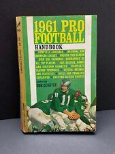 1961 Pro Football Handbook edited by Don Schiffer