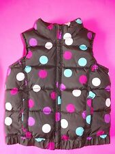 NWOT OLD NAVY POLKA DOT VEST GIRLS 3T 3 YEARS BROWN WITH DOTS FROST FREE VEST