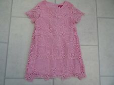 Girls Primark Pink Lace Summer Party Dress Age 2/3 Years VGC