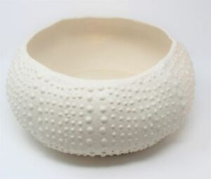 Elegant Modern White Sea Urchin Bowl 7"