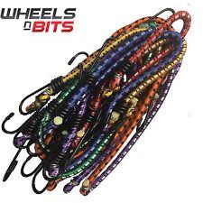 12  Bungie Cord Elastic Luggage Strap Rope Hooks Stretch Tie Car Van Suv Trailor
