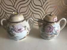 Beautiful Large Oriental Milk Just G & Sugar Bowl